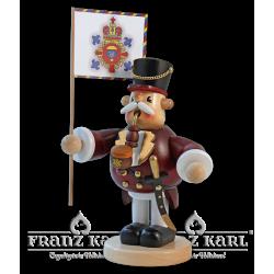1519 Pfeifenraucher Hauptmann von Blank Kunsthandwerk, Gruenhainichen