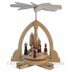 "Pyramid ""Nativity"" natural - 23 cm (9.1 inches)"