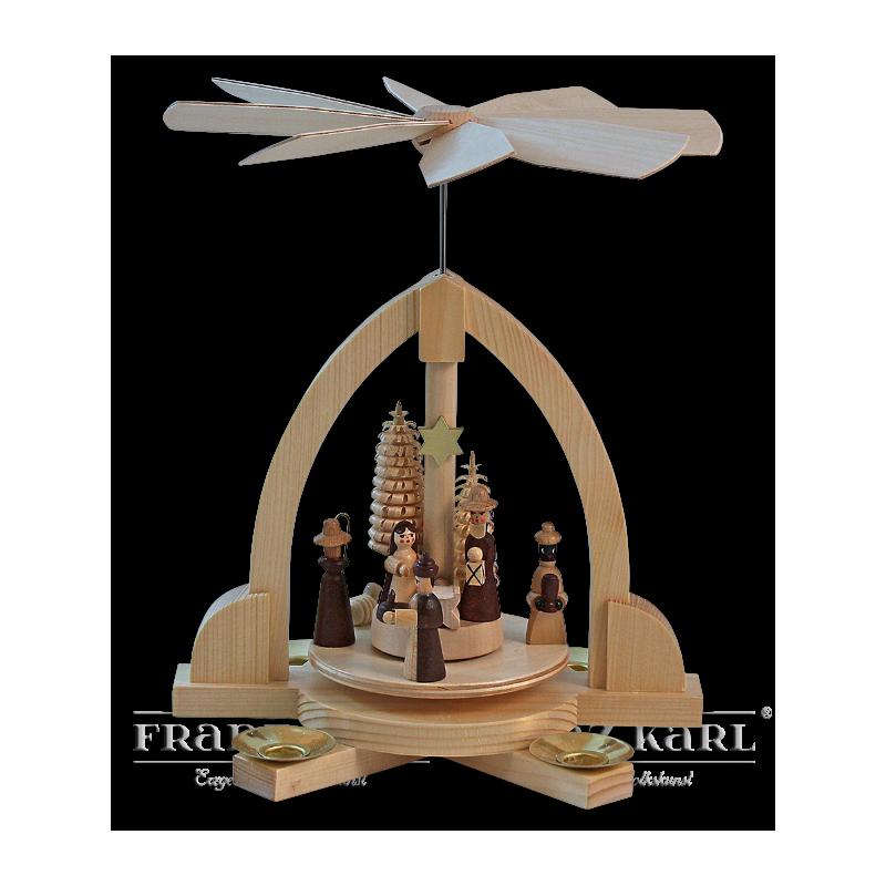"Pyramide ""Christi Geburt"", natur"