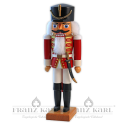"Nutcracker ""Hussar"", red - 34 cm (13.4 inches)"