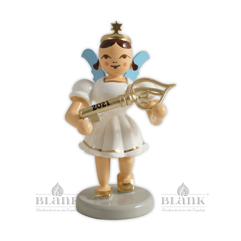 EKF 2021 Angel with Short Pleated Skirt and Lucky Key, Limited Edition 2021, coloured