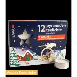 Pyramidenteelichte Premium (metall)