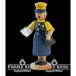 1175 Rauchfrau Postfrau, farbig von Blank Kunsthandwerk, Gruenhainichen