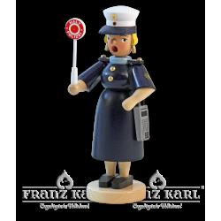 1176 Rauchfrau Polizistin von Blank Kunsthandwerk, Gruenhainichen
