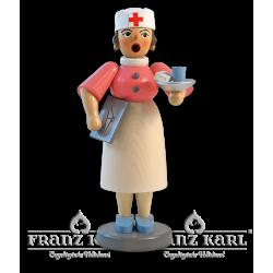 1173 Rauchfrau Krankenschwester, farbig von Blank Kunsthandwerk, Gruenhainichen