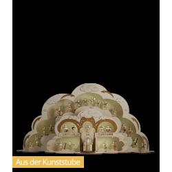 Engelstor und Erweiterung dekoriert mit Faltenrockengeln von Blank