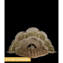 Engelstor-Erweiterung dekoriert mit der vierstufigen Engelwolke und Engelorchester