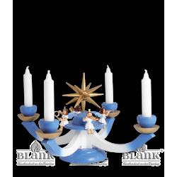 LEF 050 Adventsleuchter mit 4 sitzenden Engeln, farbig