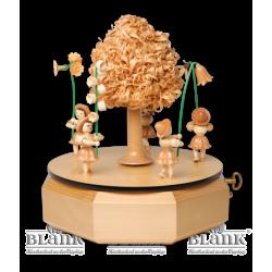 SP 002 Spieldose mit 5 Blumenkindern von Blank Kunsthandwerk, Gruenhainichen