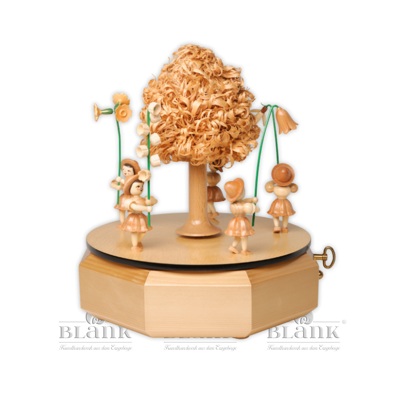 SP 002 Spieldose mit 5 Blumenkindern