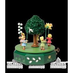 SPF 002 Spieldose mit 5 Blumenkindern, farbig von Blank Kunsthandwerk, Gruenhainichen