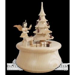 SP 022 Spieldose Weihnachtstraum mit Baum und Engel von Blank Kunsthandwerk, Gruenhainichen
