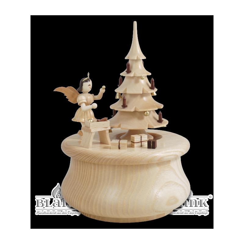 SP 022 Spieldose Weihnachtstraum mit Baum und Engel