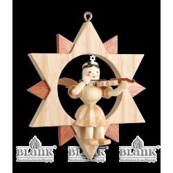 ES 011 Engel im Stern mit Violine von Blank Kunsthandwerk, Gruenhainichen