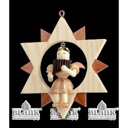 ES 033 Engel im Stern mit Panflöte von Blank Kunsthandwerk, Gruenhainichen