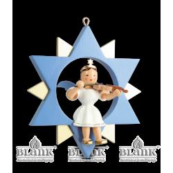 ESF 011 Engel im Stern mit Violine, farbig von Blank Kunsthandwerk, Gruenhainichen