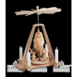 PK 005 Pyramide mit Spanbaum und 3 Engeln von Blank Kunsthandwerk, Gruenhainichen
