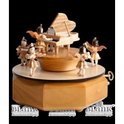 SP 001 Spieldose mit Engel am Flügel von Blank Kunsthandwerk, Gruenhainichen