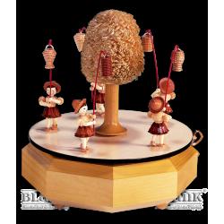 SP 003 Spieldose mit 5 Laternenkindern von Blank Kunsthandwerk, Gruenhainichen