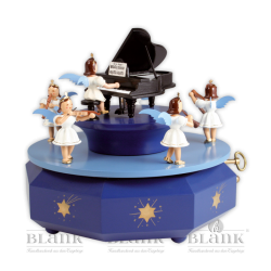 SPF 001 Spieldose mit Engel am Flügel, farbig von Blank Kunsthandwerk, Gruenhainichen
