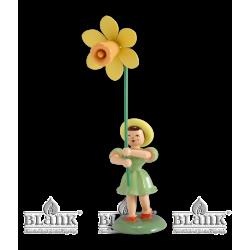 BKF 013 Blumenkind mit Narzisse, farbig von Blank Kunsthandwerk, Gruenhainichen