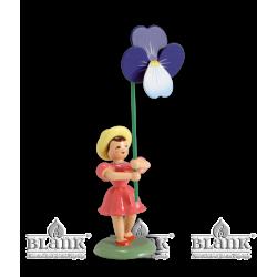 BKF 018 Blumenkind mit Stiefmütterchen, farbig von Blank Kunsthandwerk, Gruenhainichen
