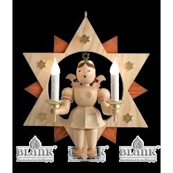 ESM 024 E Engel im Stern mit elektr. Beleuchtung, 30 cm von Blank Kunsthandwerk, Gruenhainichen