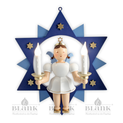 ESFM 024 E Angel in a Star with Electric Lighting,  30 cm, coloured