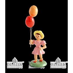 MF 004 Mädchen mit Luftballon, farbig von Blank Kunsthandwerk, Gruenhainichen