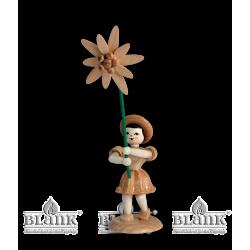 BK 021 Blumenkind mit Edelweiß von Blank Kunsthandwerk, Gruenhainichen