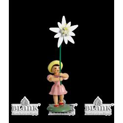 BKF 021 Blumenkind mit Edelweiß, farbig von Blank Kunsthandwerk, Gruenhainichen