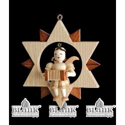 ES 037 Engel im Stern mit Harmonika von Blank Kunsthandwerk, Gruenhainichen