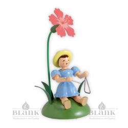 BKS 014 Blumenkind mit Nelke und Triangel, sitzend von Blank Kunsthandwerk, Gruenhainichen