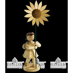 BKM 009 Blumenkind mit Sonnenblume, 20 cm von Blank Kunsthandwerk, Gruenhainichen