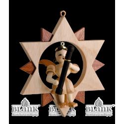 ES 029 Engel im Stern mit Fagott von Blank Kunsthandwerk, Gruenhainichen