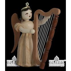 ELN 008 Faltenlangrockengel mit Harfe von Blank Kunsthandwerk, Gruenhainichen