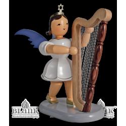 EKFM 008 Kurzrockengel mit Harfe, 20 cm, farbig von Blank Kunsthandwerk, Gruenhainichen