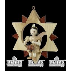 ES 016 Engel im Stern mit Trommel von Blank Kunsthandwerk, Gruenhainichen