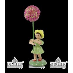 BKF 026 Blumenkind mit Chrysantheme, farbig von Blank Kunsthandwerk, Gruenhainichen