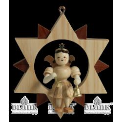ES 045 Engel im Stern mit Glocken von Blank Kunsthandwerk, Gruenhainichen