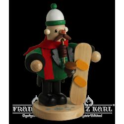 1531 Pfeifenraucher Snowboarder von Blank Kunsthandwerk, Gruenhainichen
