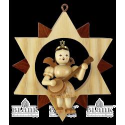 ES 048 Engel im Stern mit Banjo von Blank Kunsthandwerk, Gruenhainichen