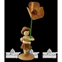 BK 028 Blumenkind mit Mohnblume von Blank Kunsthandwerk, Gruenhainichen