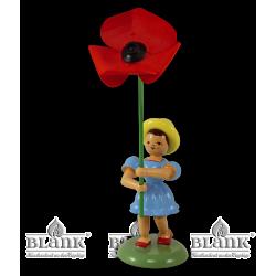 BKF 028 Blumenkind mit Mohnblume, farbig von Blank Kunsthandwerk, Gruenhainichen