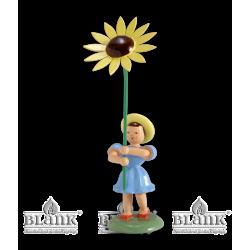 BKF 009 Blumenkind mit Sonnenblume, farbig von Blank Kunsthandwerk, Gruenhainichen