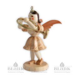 Angel with short robe and alto horn