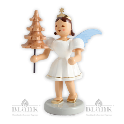 Angel with short robe and a tree, colored