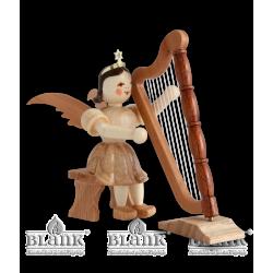 EK 038 Kurzrockengel mit Harfe, sitzend von Blank Kunsthandwerk, Gruenhainichen