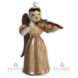 Violin playing angel with long pleated robe