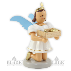 EKF-MF 007 Angel with Short Pleated Skirt and Christmas Decoration, coloured